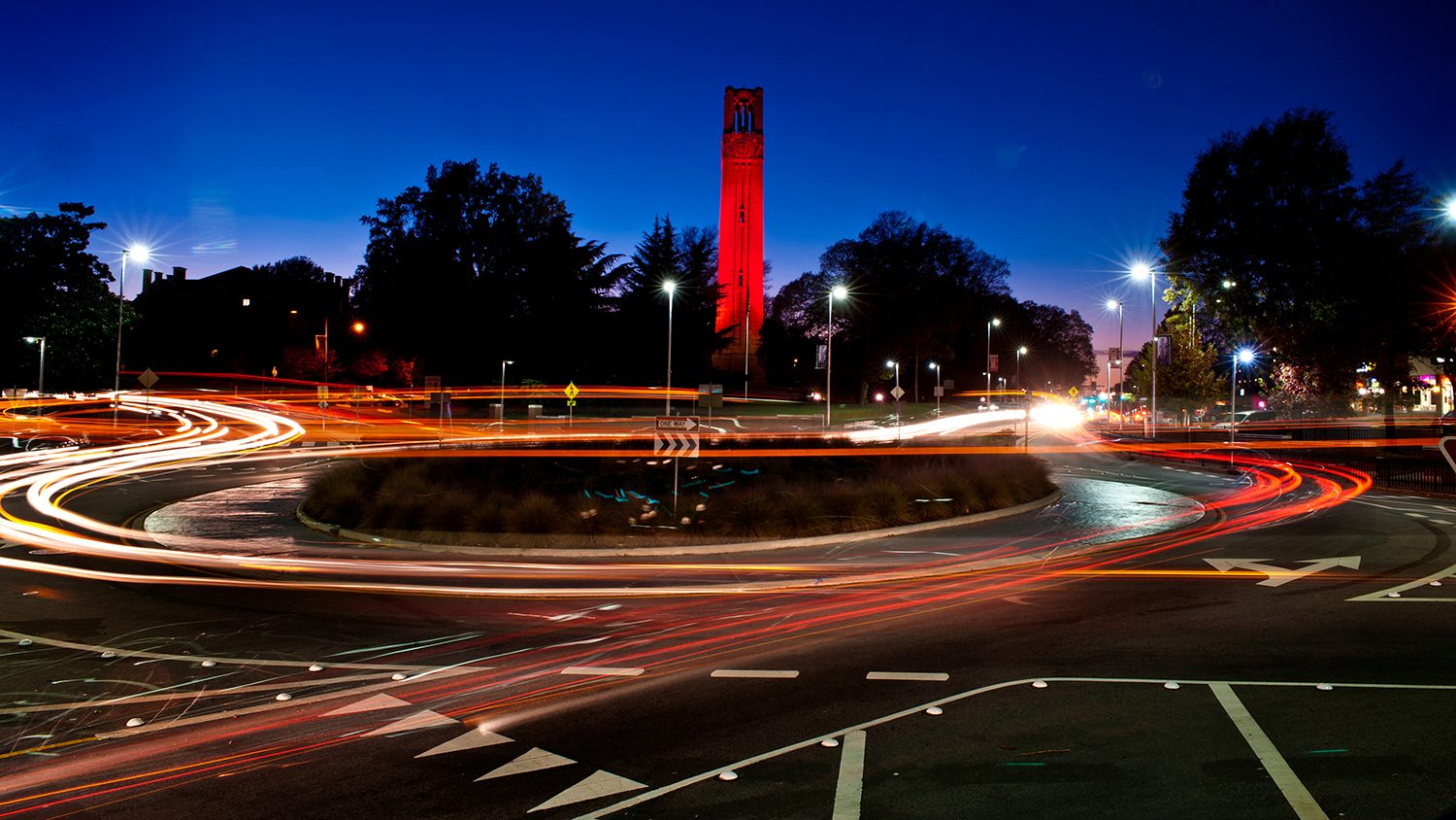 NCSU Belltower at Night.