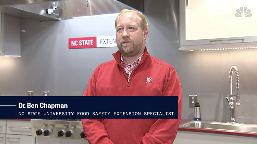 Ben Chapman speaks with NBC News on why you shouldn't wash your chicken.