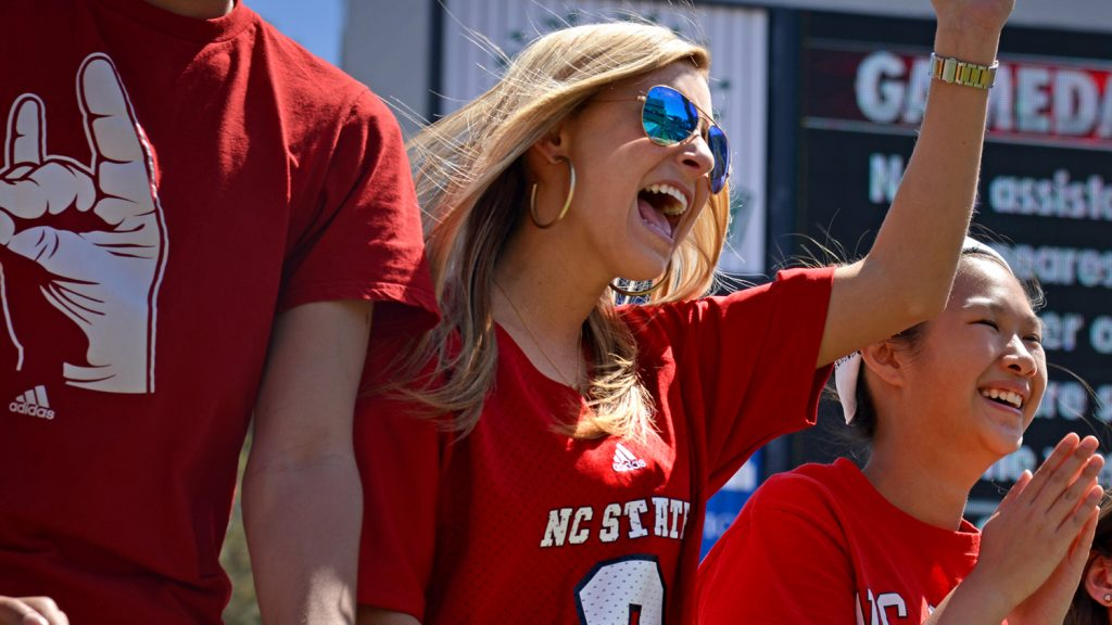 Fans at NCState football game