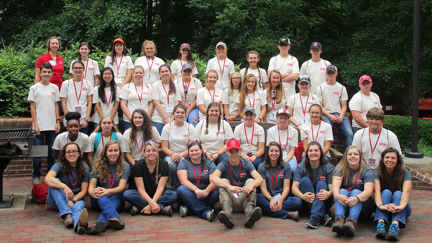 Group shot of students from Livestock Science Camp