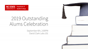 2019 Outstanding Applied Ecology alums celebration