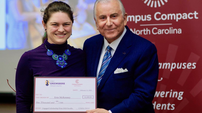 Erin McKenney wins scholarship prize