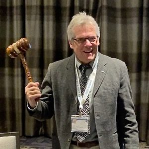 Prof. Tom Kwak with official American Fisheries society gavel.