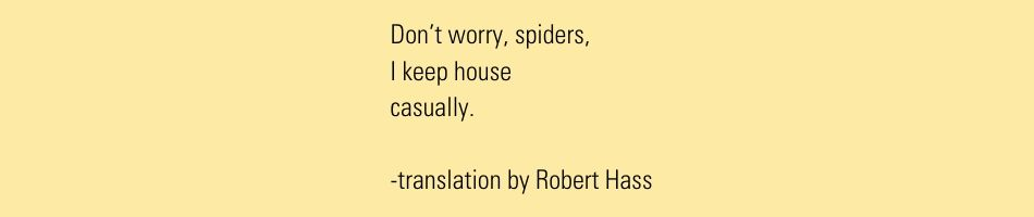 Issa poet translations keep house casually