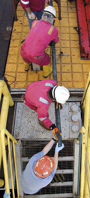 Image: Researchers moving a newly extracted sediment core up on deck of the drilling ship JOIDES Resolution in the Baltic Sea. Image courtesy of Bo Barker Jørgensen and Karen Lloyd https://videnskab.dk/miljo-naturvidenskab/livet-i-underverdenen