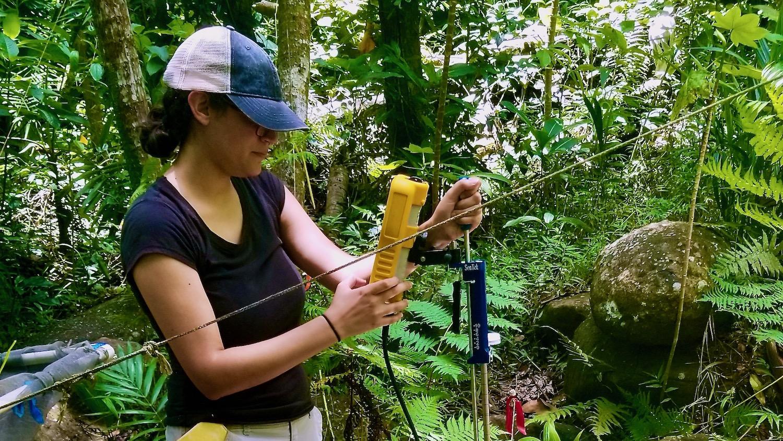Mariely Vega Gomez in the field