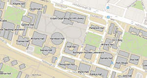 map of NC State Campus