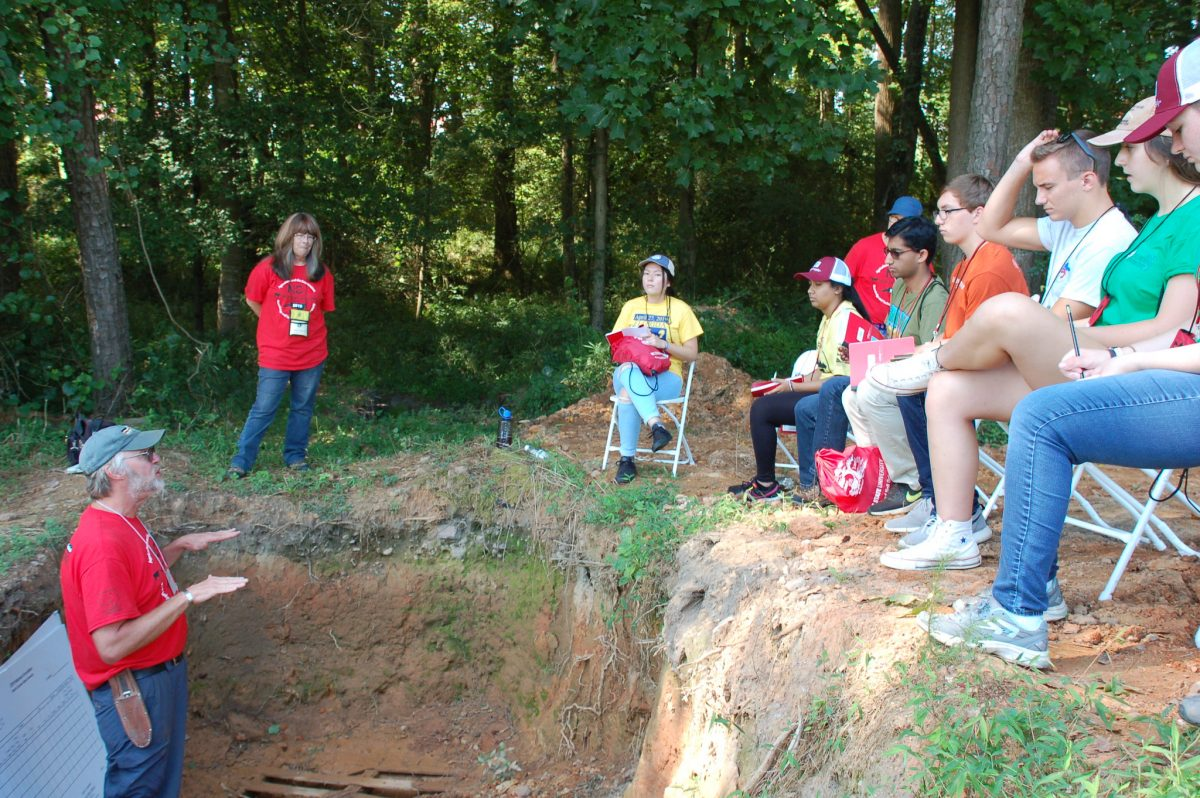 Envirothon Students Learn about soil horizons