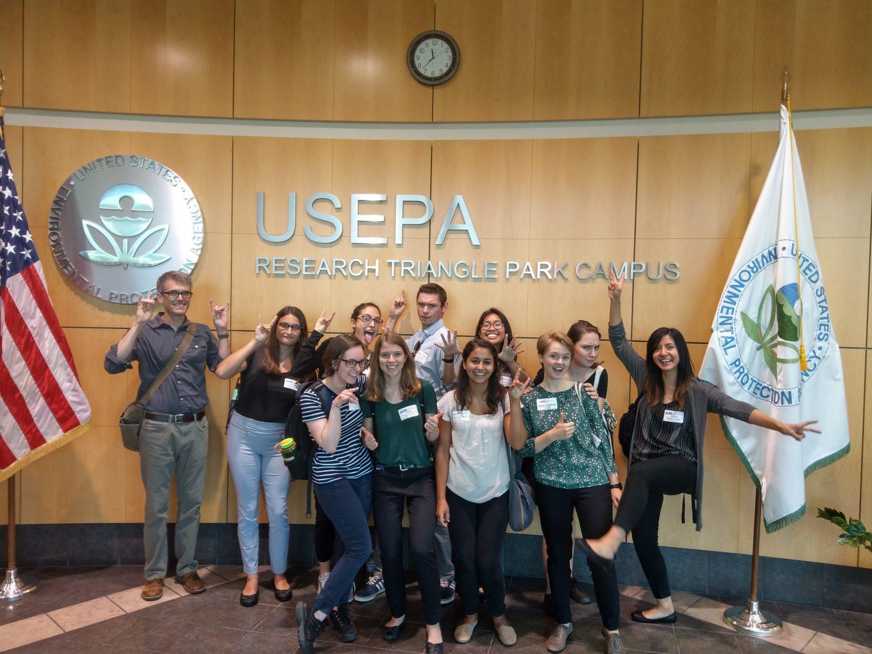 NC State REU Students attended professional development meetings in steer their career paths