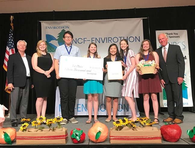Vrginia team wins 2019 Envirothon