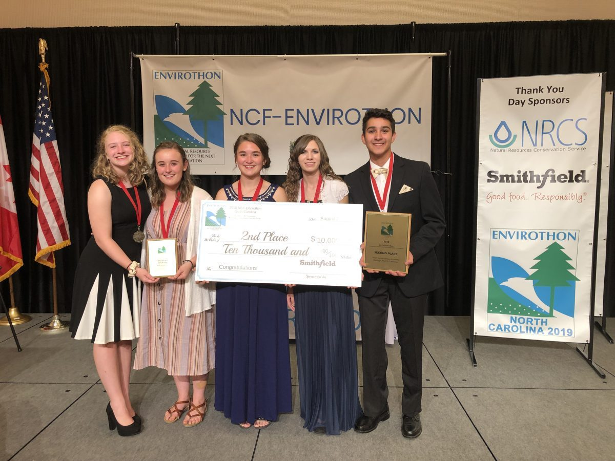 NC Envirothon team wins second place