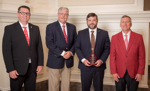 Dr. Matthew Vann was honored as a 2019 CALS Outstanding Young Alumnus