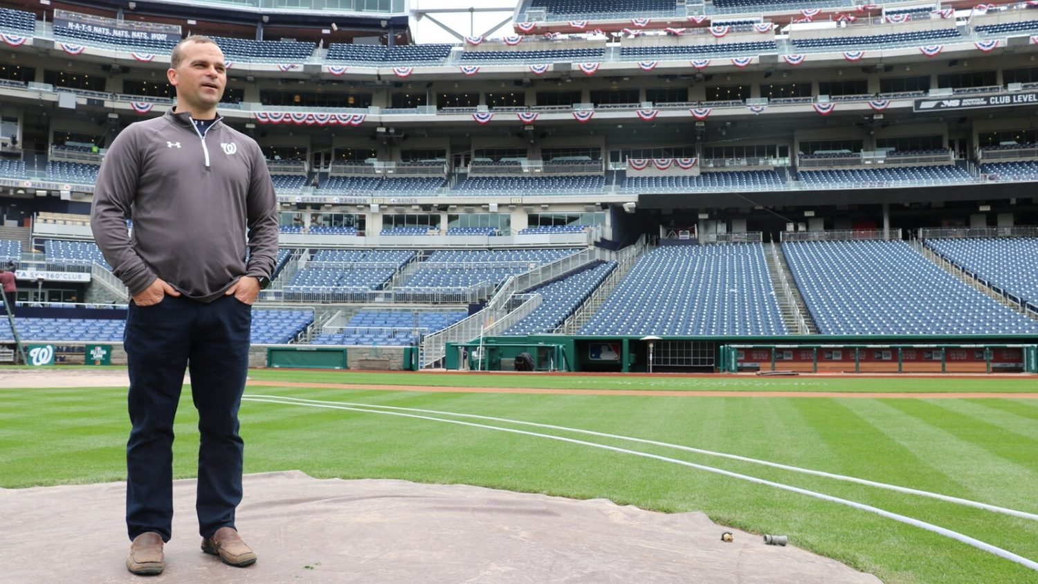 John Turnour is head groundskeeper at the Washington Nationals and NC State turfgrass alumnus
