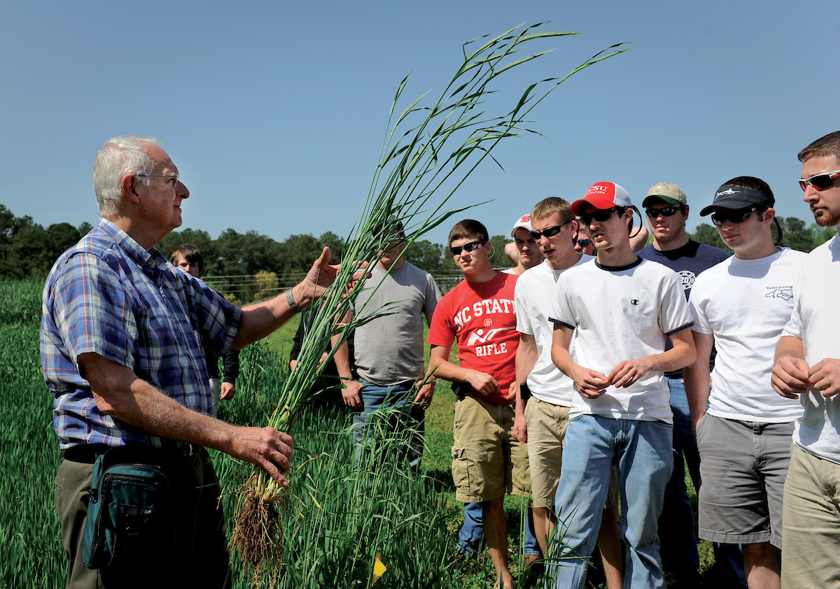 Bob Patterson teaches crop science at NC State