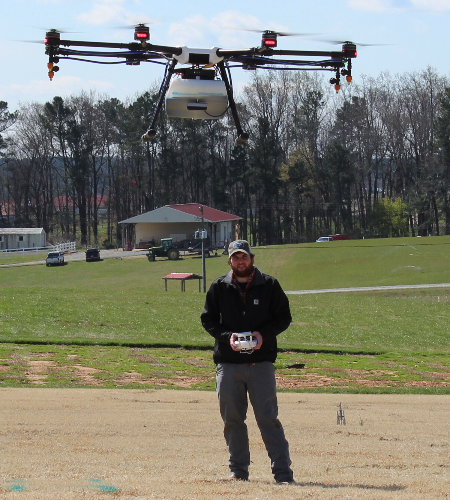 NC State Weed Science students use drones for research