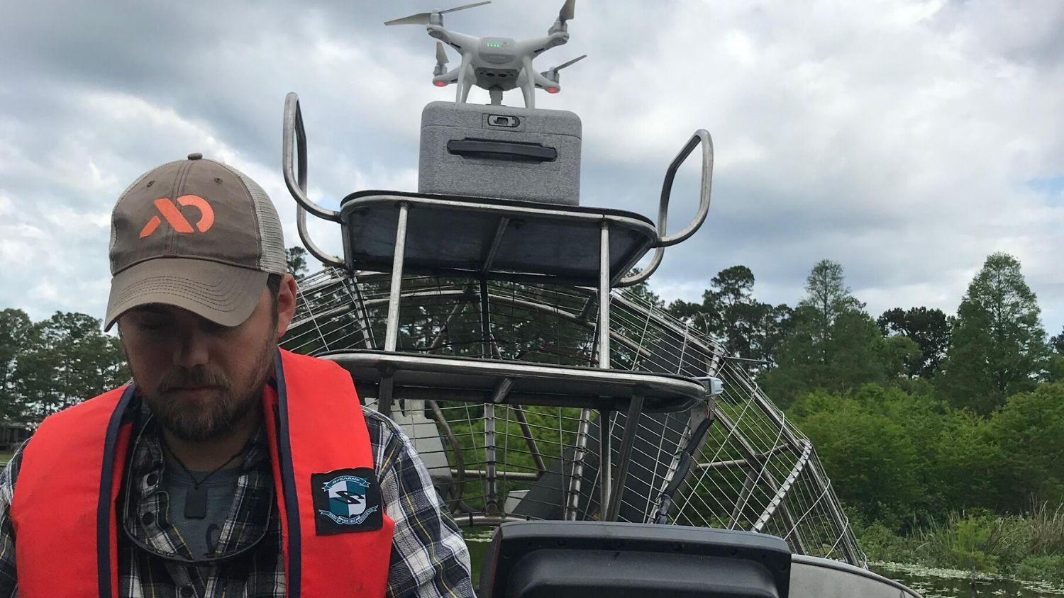 NC State student researches aquatic weeds with drone