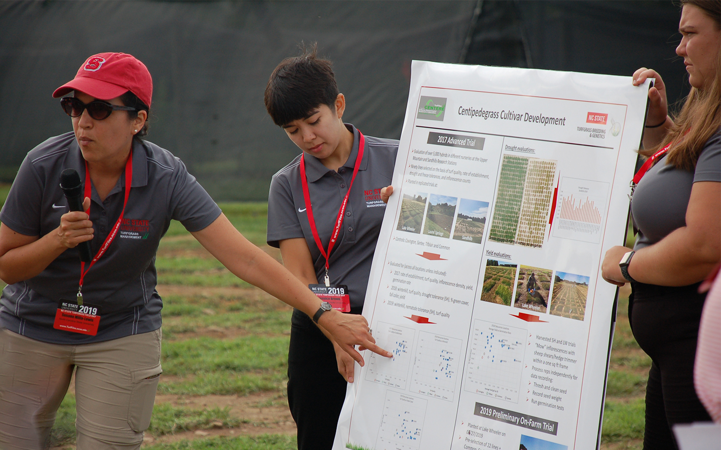 NC State Faculty present turfgrass research at field day