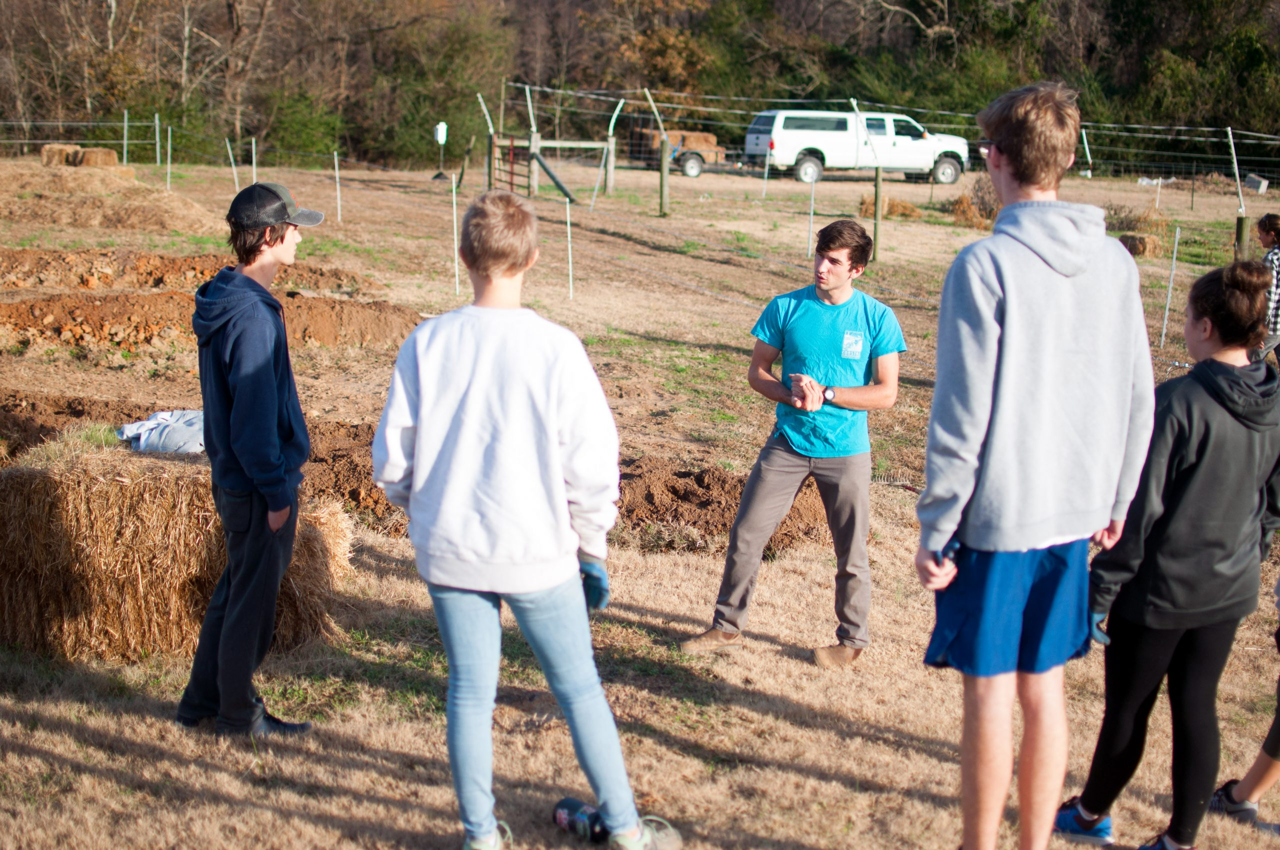 Students research and plan new agroecology food forest at NC State