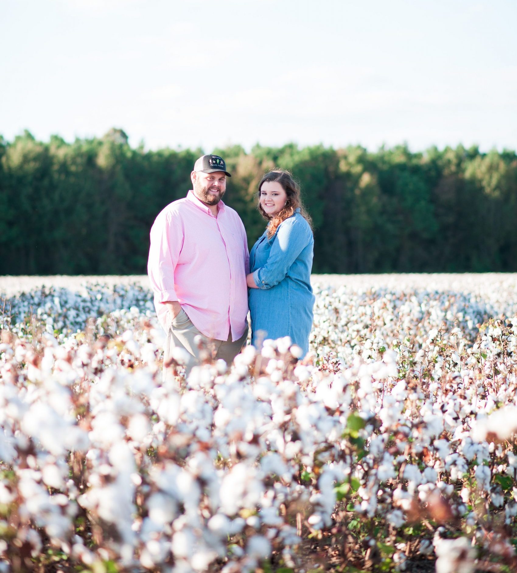 NC State senior Lindsey Tyson in cotton field