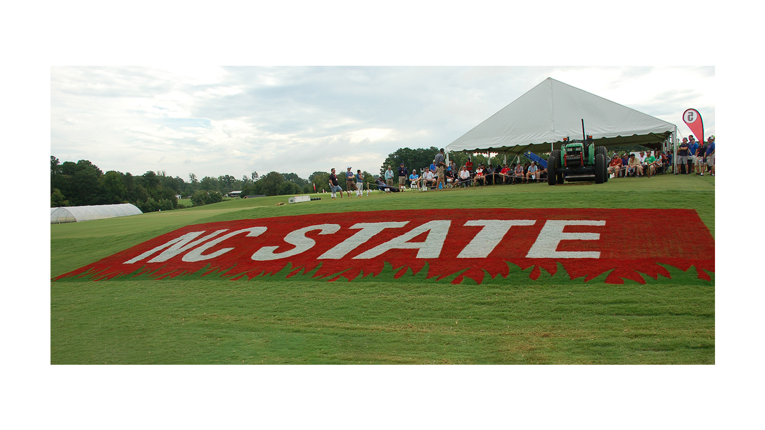 NC State logo on Turf Day
