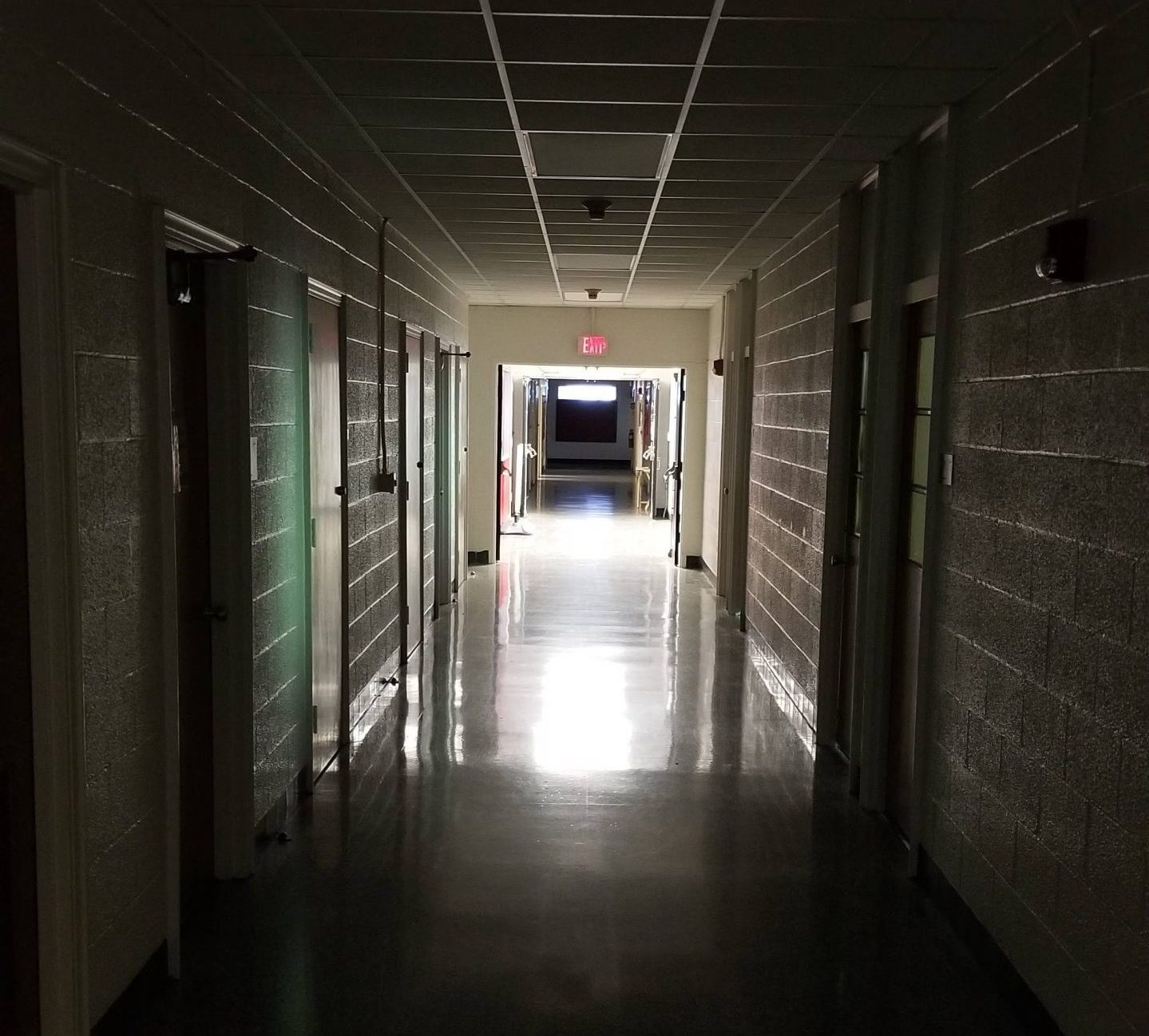 Empty hallway on NC State campus