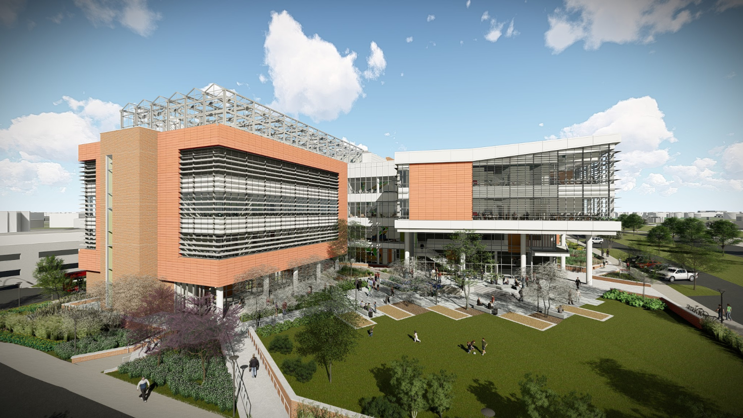 Artist rendering of NC State Plant Sciences building