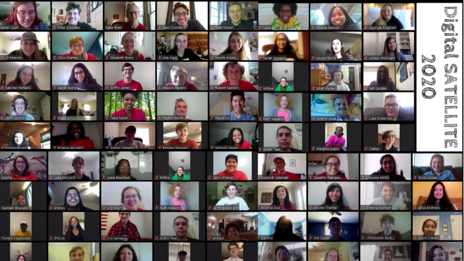 multiple people on group zoom call