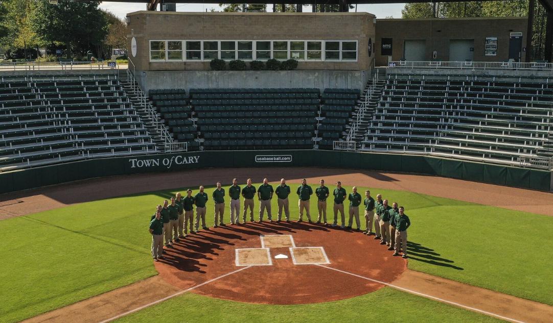 group of men on baseball field