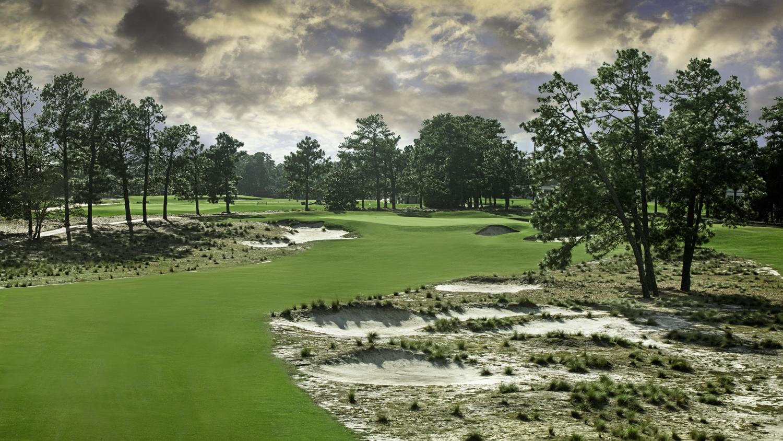 Hole 13 at Pinehurst Resort's golf course Number 2.