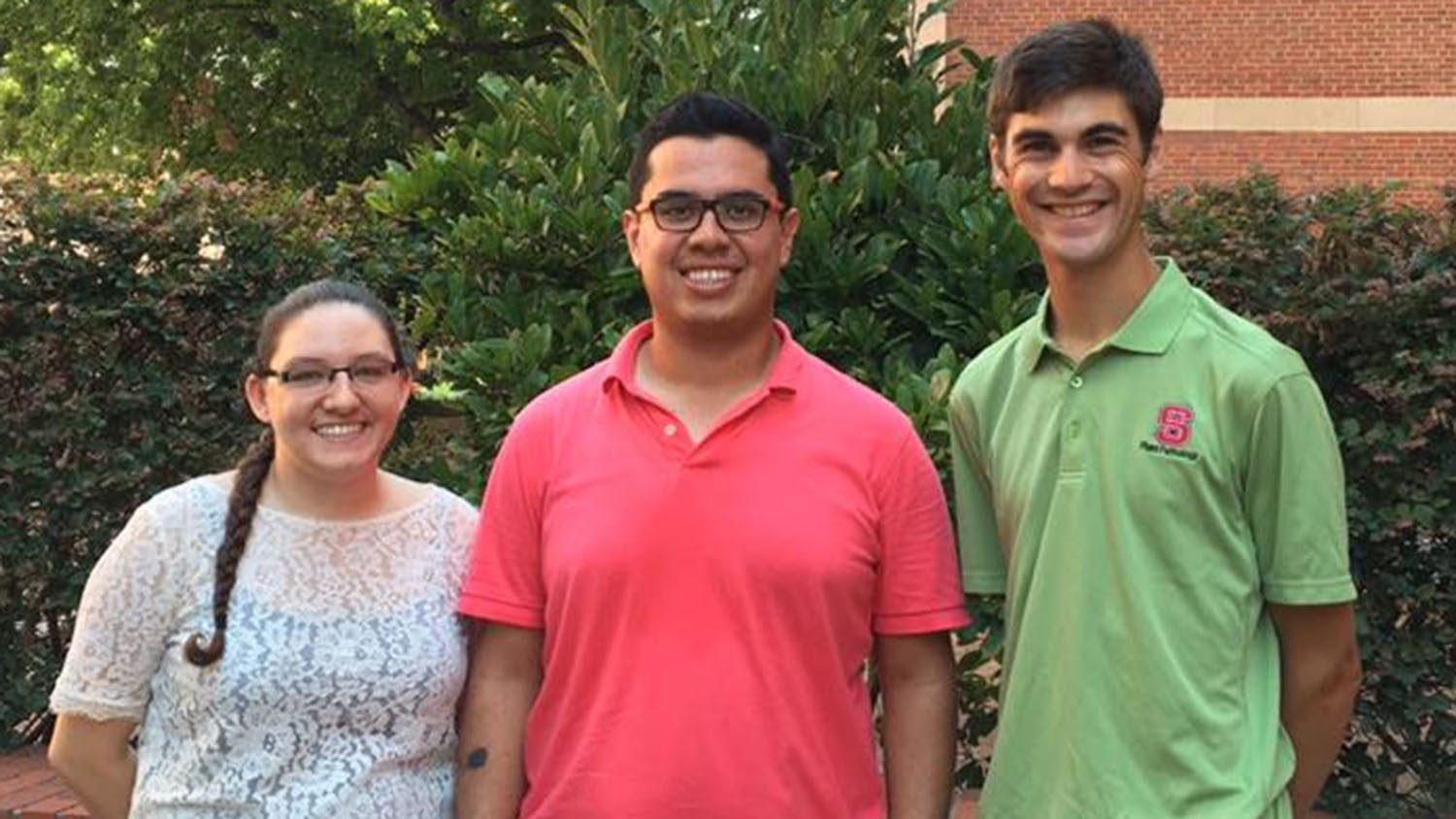 Emily Meyers, Camilio Parada and Nathan Miller