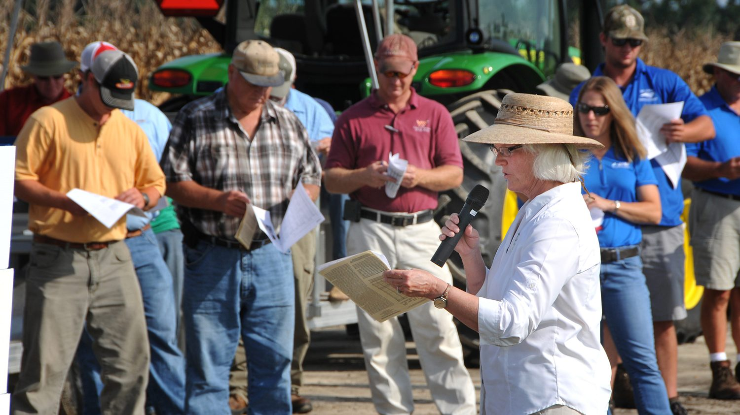Dr. Shew talks Disease Management at the annual Peanut Field Day.