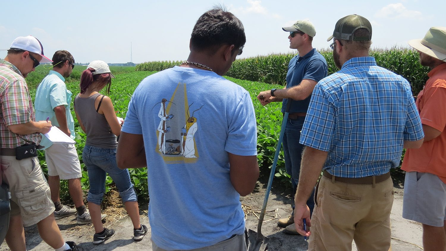 Dr. Dominic Reisig explaining cotton sampling