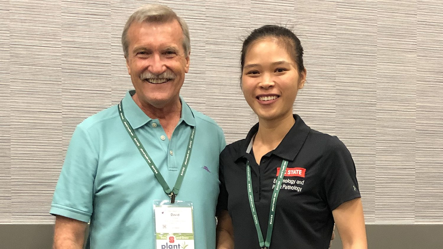 Jing Jin with Dr. Dave Shew