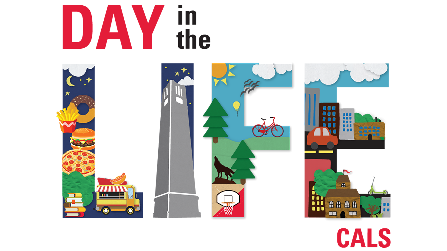 """Day in the Life: CALS"" logo"
