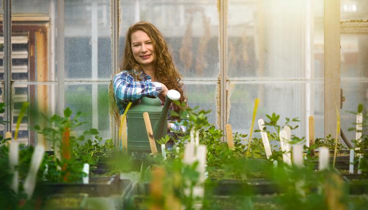 Ph.D Student Amanda Kaufman, majoring in food science and minoring in crop science