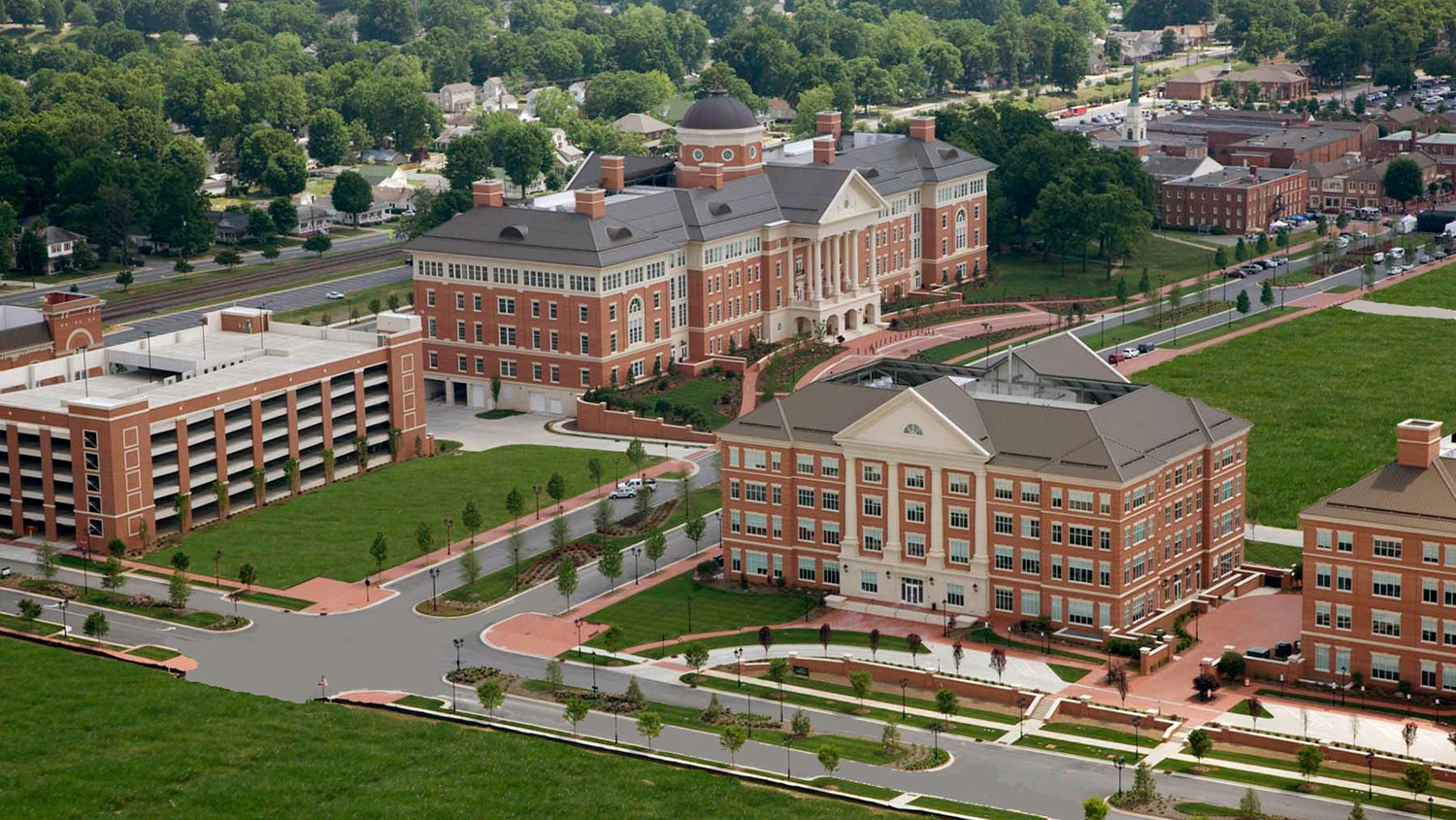 Aerial photo of North Carolina Research Campus in Kannapolis