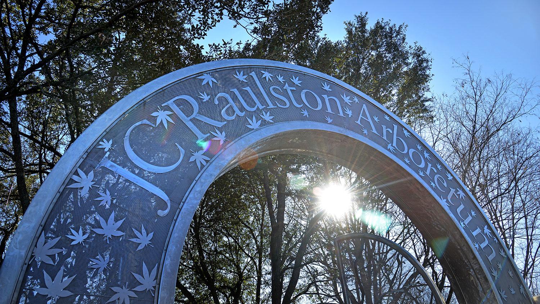 Front gate of JC Raulston Arboretum