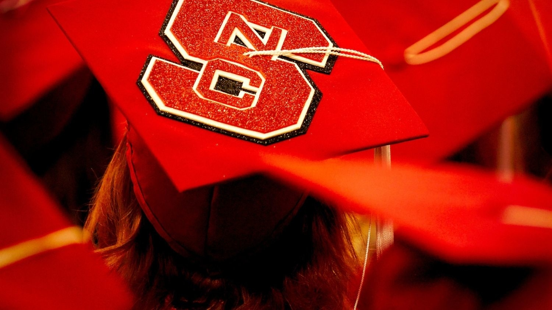 NC State Graduation Ceremonies. Photo by Becky Kirkland.