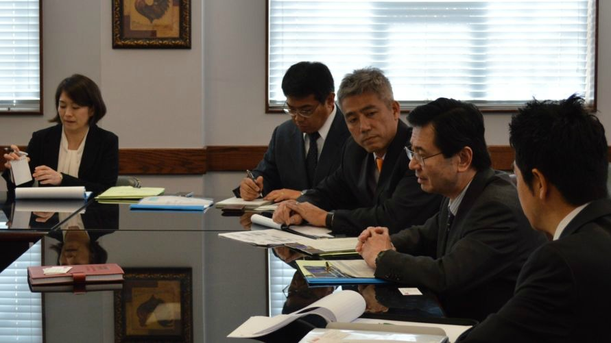 Representatives from Nagoya University visit CALS International Programs.