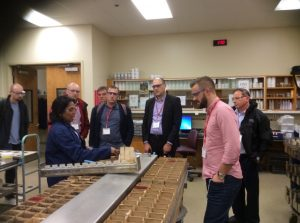 The Fellows touring the Soil Testing Laboratory at the NCDA&CS Agronomic Division in Raleigh