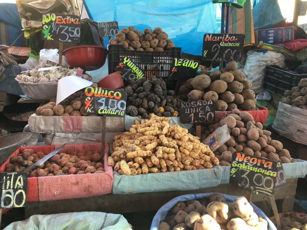 Variety of local tubers.