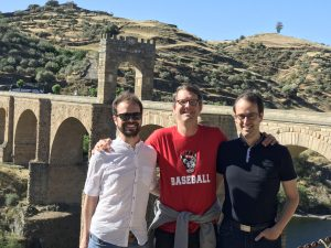 Bill Hunt in Alcantara, Spain with faculty colleagues from the University of Oviedo during the BAE 495 - Engineering in the Roman Times study abroad