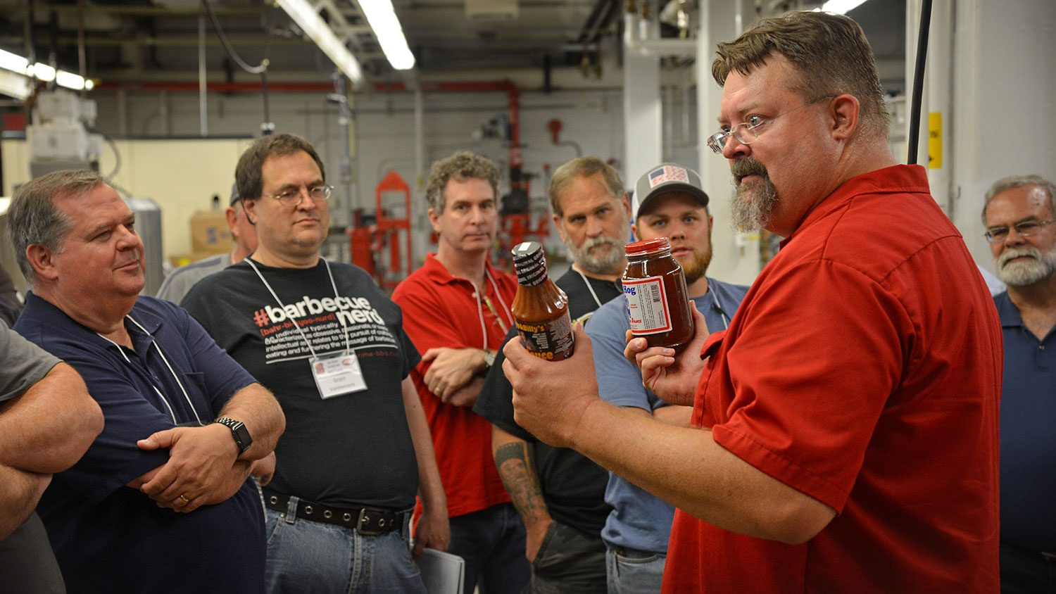 Dana Hanson talks to participants of NC State's BBQ Camp