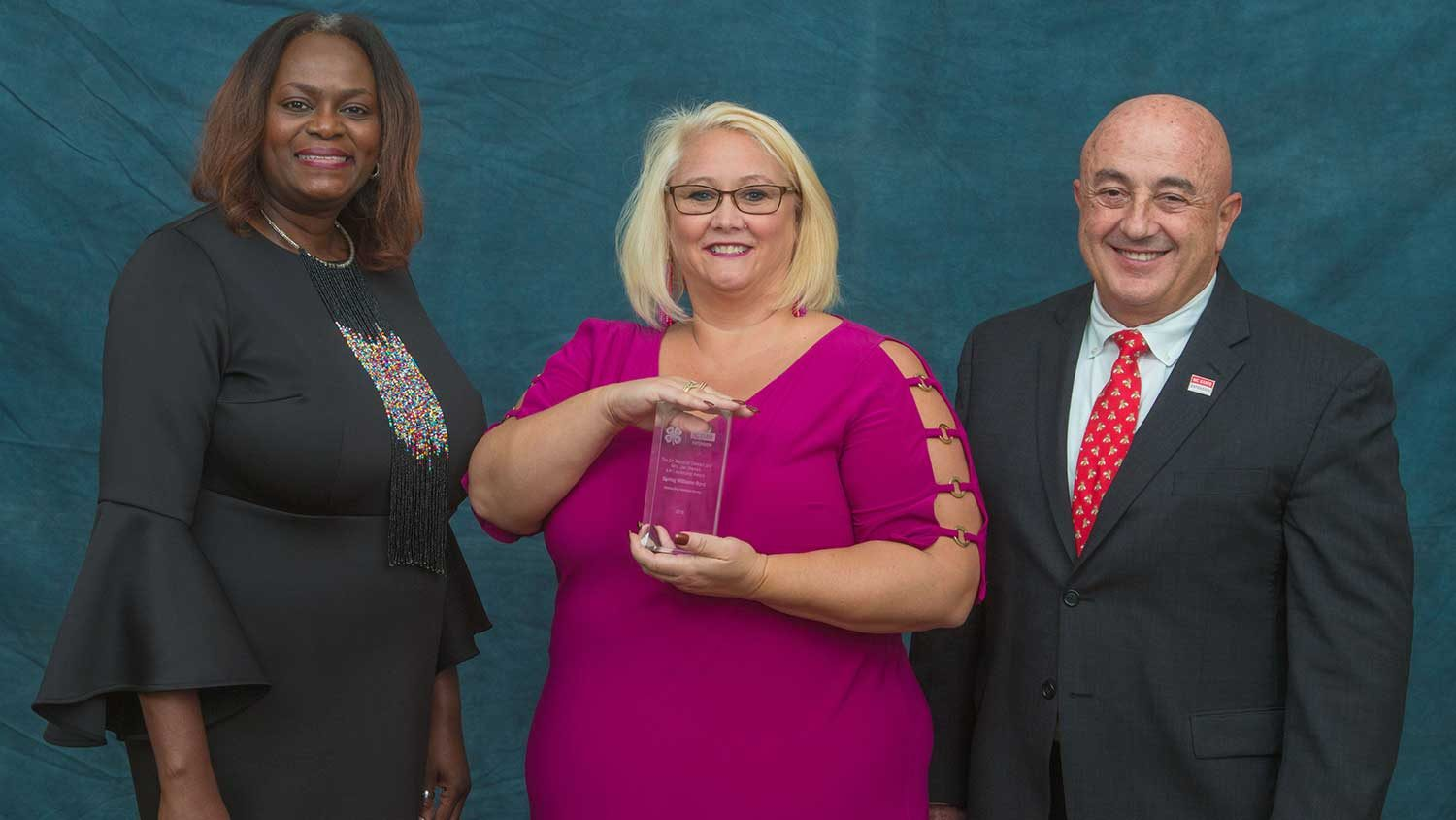 Extension award winner and Cooperative Extension leaders