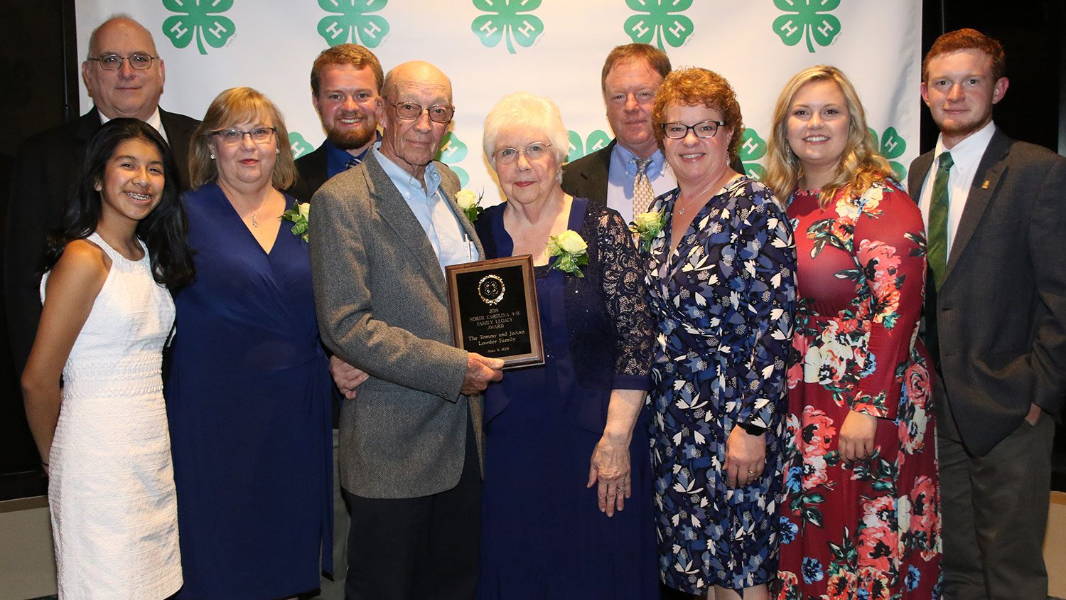 Group photo of family who received 4-H Family Legacy Award.