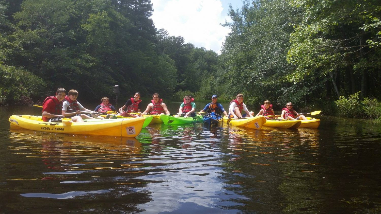 Campers enjoy canoeing at 4-H's Camp Millstone.
