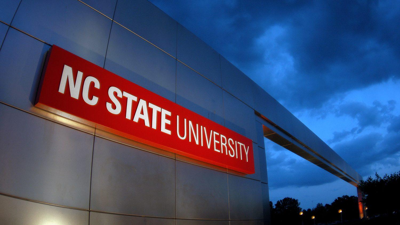 University logo on wall