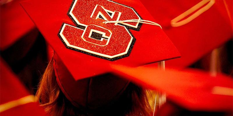 Graduation cap with Block S