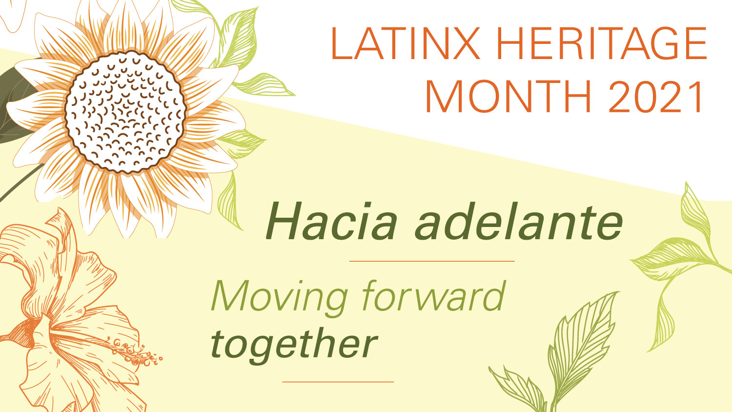 Flyer for Latinx Heritage Month