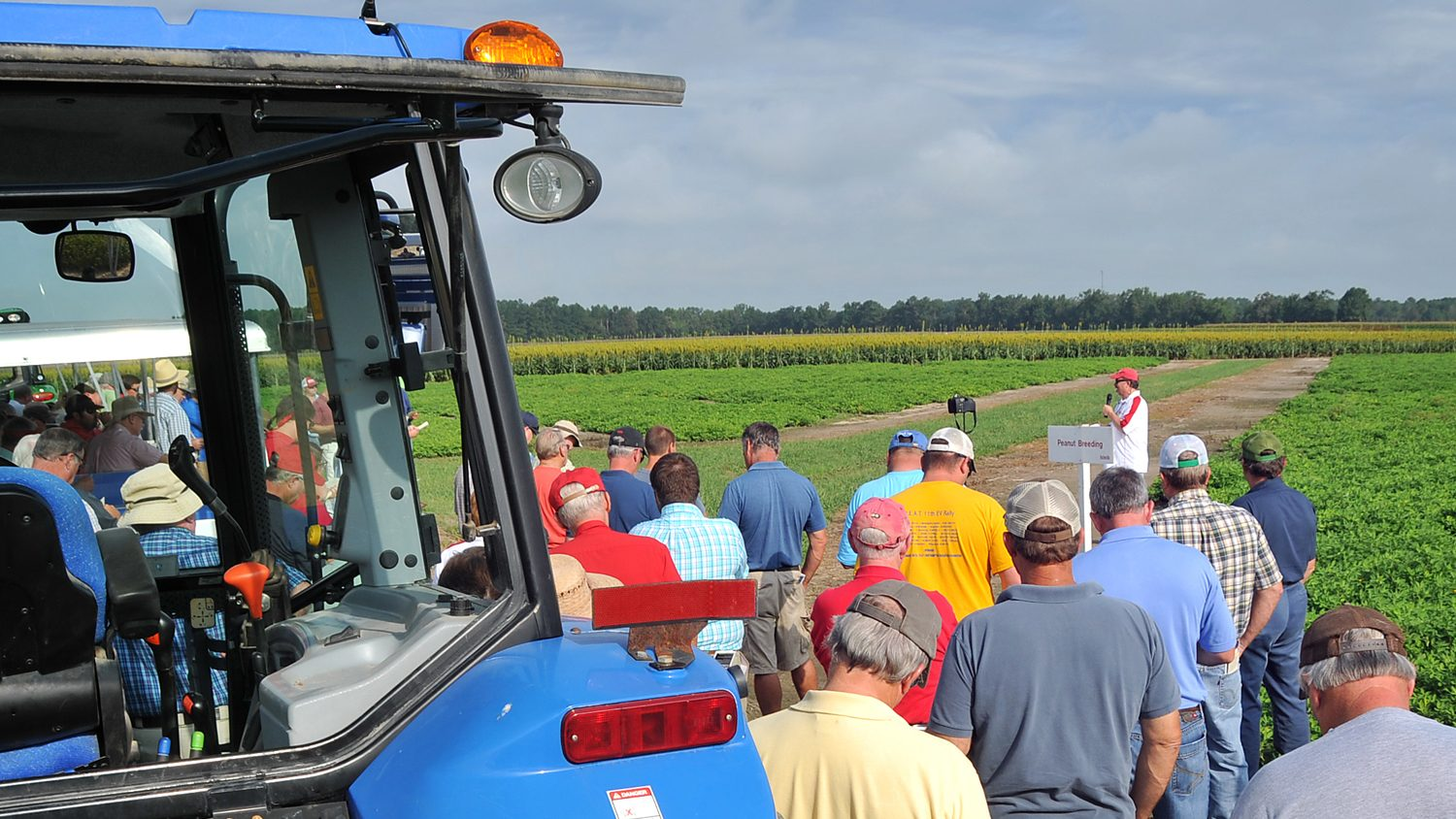 Field Day demonstartion at an NC State Research Station.